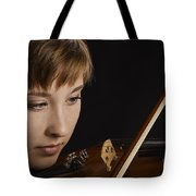 Girl Musician And Violin Or Viola Photograph Color 3361.02 Tote Bag