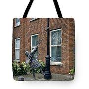 Girl On A Lamp Post Tote Bag