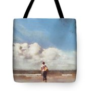 Girl On Beach Tote Bag