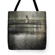 Girl On Bridge Tote Bag