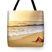 Girl On Seashore  Tote Bag