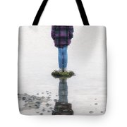 Girl On Stone Tote Bag