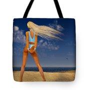 Girl On The Beach... Tote Bag