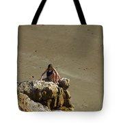 Girl On The Rocks - Compton Bay Tote Bag