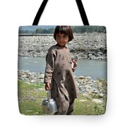 Girl Poses For Camera  Tote Bag