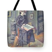 Girl Reading A Book Tote Bag