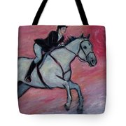 Girl Riding Her Horse I Tote Bag