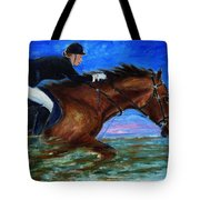 Girl Riding Her Horse II Tote Bag