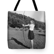 Girl Scout With Bow And Arrow Tote Bag
