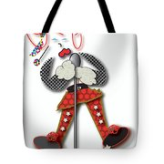 Girl Singer Dress Tote Bag by Marvin Blaine