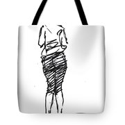 Girl Sketch Tote Bag