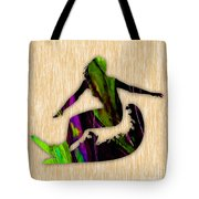 Girl Surfer Tote Bag by Marvin Blaine