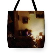 Girl With A Book Tote Bag