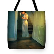 Girl With A Candle Tote Bag