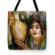 Girl With A Jug. Tote Bag