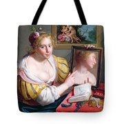 Girl With A Mirror, An Allegory Tote Bag
