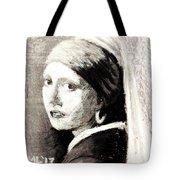 Girl With A Pearl Earring By Jan Vermeer Van Delft Tote Bag
