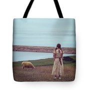 Girl With A Sheep Tote Bag by Joana Kruse