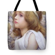 Girl With Apple Blossom Tote Bag by Henry Ryland