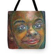 Girl With Diamond Earrings Tote Bag