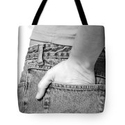 Girl With Hand In Back Pocket Tote Bag