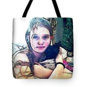 Girl With Her Black Cat Tote Bag