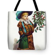 Girl With Holly Tote Bag
