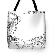 Girl With Laptop  Tote Bag