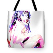 Girl With Lollipop Tote Bag