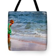 Girl With Pail Tote Bag