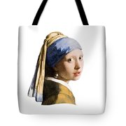 Girl With Pearl Earring Flip Side Tote Bag