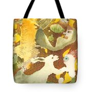 Girl With Rabbits Tote Bag