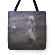 Girl With Sheeps Tote Bag