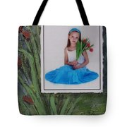 Girl With Tulips Tote Bag