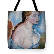 Girl With With Daisies Renoir Tote Bag