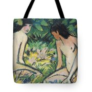 Girls In The Open Air Tote Bag by Otto Mueller or Muller
