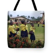 Girls On Field Day Tote Bag