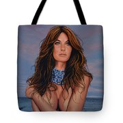 Gisele Bundchen Painting Tote Bag