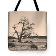 Give Me A Home Where The Buffalo Roam Sepia Tote Bag