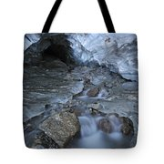 Glacial Creek Flowing From Blue Ice Tote Bag