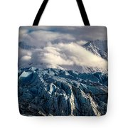 Glacier In The Clouds Tote Bag