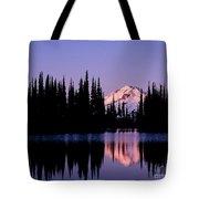 Glacier Peak Sunrise On Image Lake Tote Bag