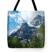 Glacier Seen From Kicking Horse Campground In Yoho Np-bc Tote Bag
