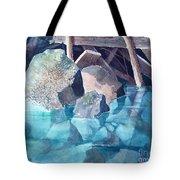 Glacier Stream Rocks Tote Bag