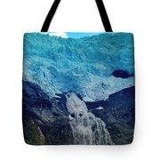 Glacier Waterfall Tote Bag