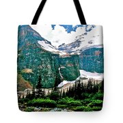 Glaciers Along Plain Of Six Glaciers Trail In Banff Np-alberta Tote Bag