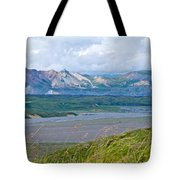 Glaciers And Mountains From Eielson Visitor's Center In Denali Np-ak  Tote Bag