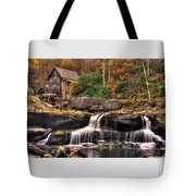 Glade Creek Grist Mill 1a - Autumn Late Afternoon Babcock State Park Wv Tote Bag
