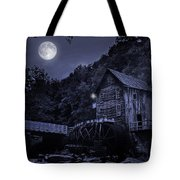 Glade Creek Grist Mill At Night Tote Bag