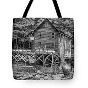 Glade Creek Grist Mill Bw Tote Bag